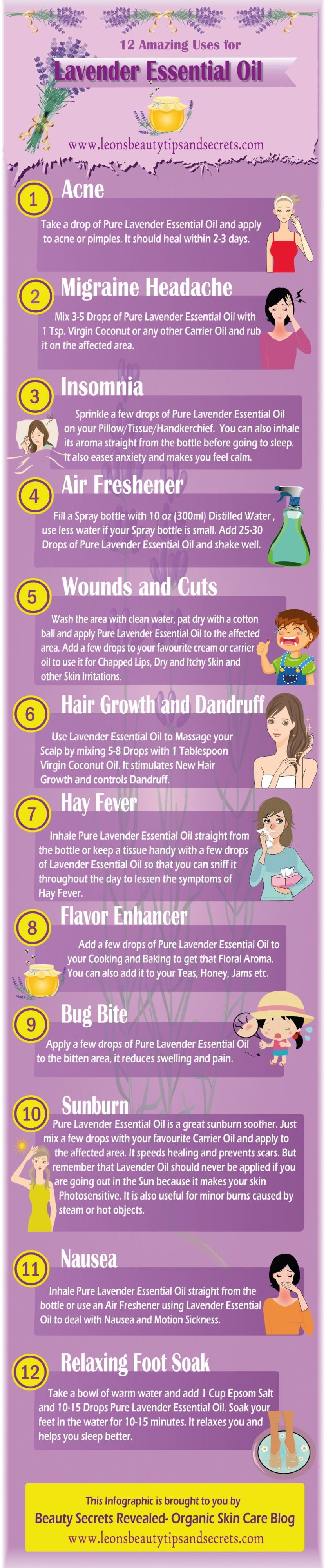 Uses for the Essential Oil Lavender