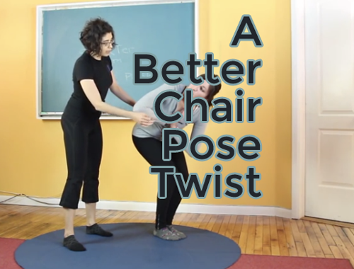A Better Yoga Chair Pose Twist