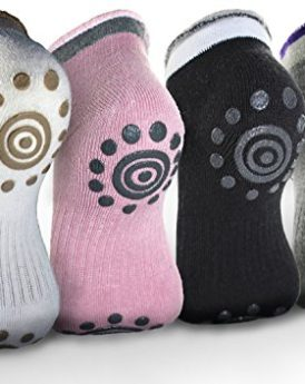 Attmu-Non-Slip-Skid-Yoga-Pilates-Socks-with-Grips-Cotton-for-Women-4-Pairs-4-Colors-0