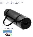 OM-Exercise-Yoga-Mat-12-Inch-Extra-Thick-Extra-Long-72-Inch-High-Density-Foam-with-Yoga-Mat-Bag-and-Sling-by-Elite-Trend-Free-63-Pages-eBook-Fitness-The-Guide-to-Staying-Healthy-100-Satisfaction-Guara-0-1