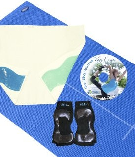 Stick-e-Yoga-Starter-Bundle-with-Body-Align-MatTowelSocks-BlueWhiteBlack-Small-Ladies-Shoe-Size-5-7-0