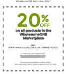 20 percent off coupon for subscribers