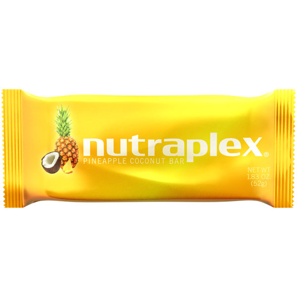 Nutraplex Pineapple Coconut Bar Carton: 15 - 1.83oz Bar