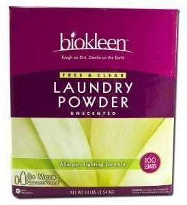 Biokleen-Free-Clear-Laundry-Powder-Allergen-Fighting-Formula-10-Lb-Boxes-Pack-of-4-0