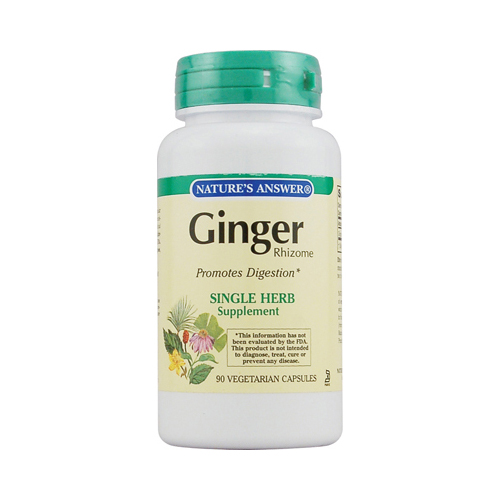 Nature's Answer Ginger Rhizome - 90 Vegetarian Capsules