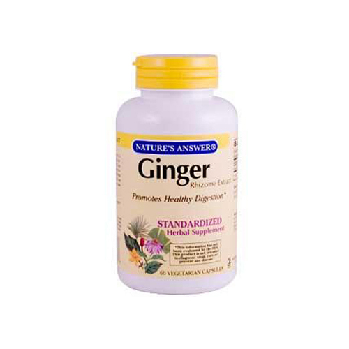 Nature's Answer Ginger Rhizome - 60 Vegetarian Capsules