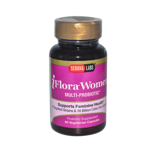 Sedona Labs iFlora Probiotics for Women - 60 Vegetarian Capsules