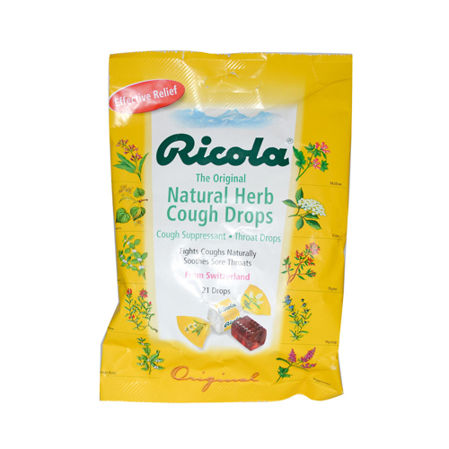Ricola Herb Throat Drops Original - 21 Drops - Case of 12