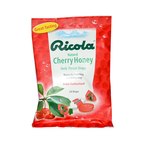 Ricola Herb Throat Drops Cherry Honey - 24 Drops - Case of 12