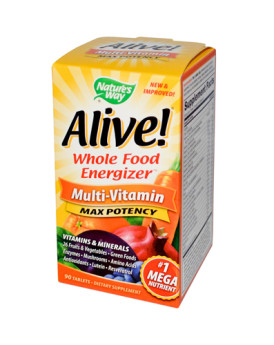 Nature's Way Alive Multi-Vitamin Max Potency - 90 Tablets