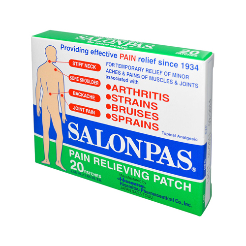 Salonpas Pain Relieving Patch - 20 Pack