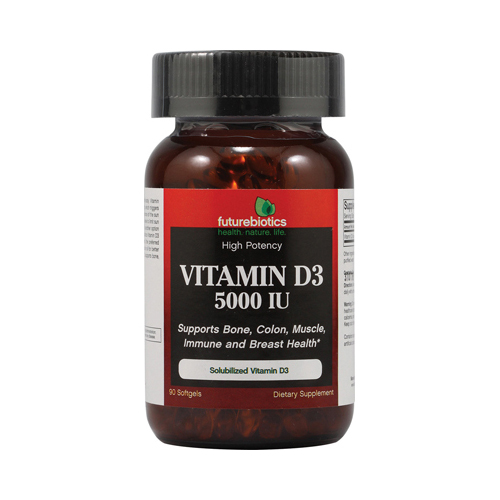 FutureBiotics Vitamin D3 - 5000 IU - 90 Softgels
