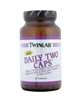 Twinlab Daily Two Caps without Iron - 90 Capsules