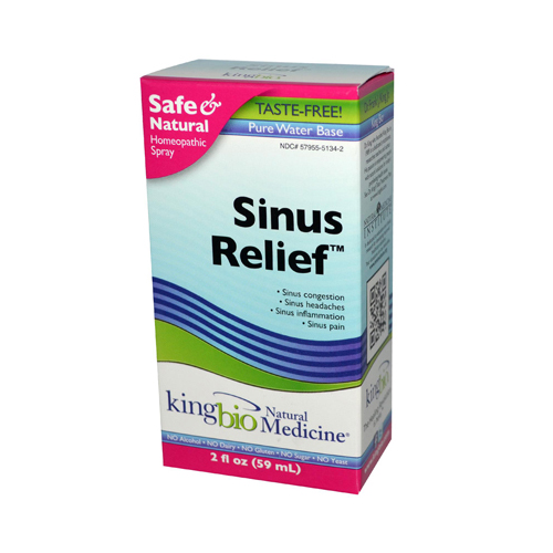 King Bio Homeopathic Sinus Relief Spray - 2 fl oz
