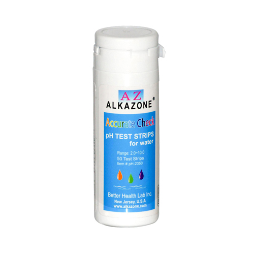 AlkaZone Accurate Check pH Test Strips For Water - 50 Strips