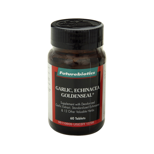 FutureBiotics Garlic Echinacea Goldenseal Plus - 60 Tablets