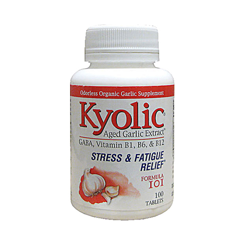 Kyolic Aged Garlic Extract Stress and Fatigue Relief Formula 101 - 100 Tablets