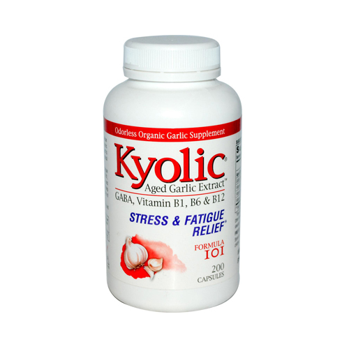 Kyolic Aged Garlic Extract Stress and Fatigue Relief Formula 101 - 200 Capsules