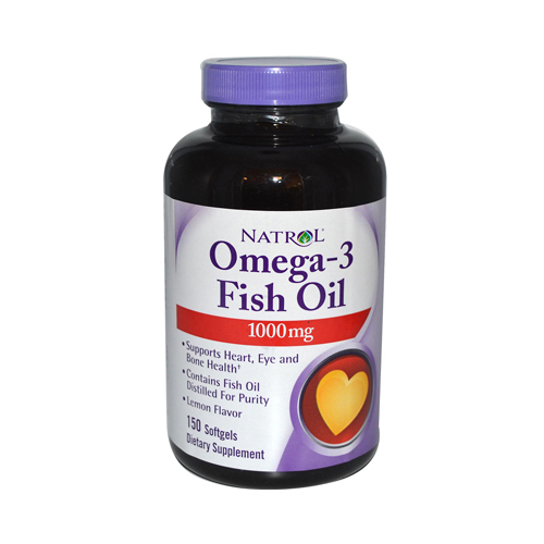 Natrol Omega-3 Fish Oil Lemon - 1000 mg - 150 Softgels