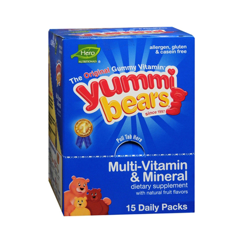 Hero Nutritional Products Yummy Bear - Multivitamin and Mineral - 15/3 Pack