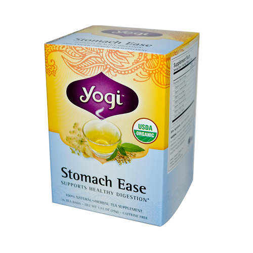 Yogi Organic Stomach Ease Herbal Tea - 16 Tea Bags - Case of 6
