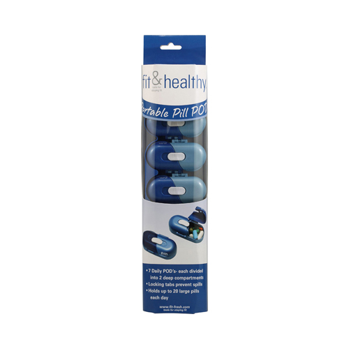 Fit and Healthy Portable Pill Pods - 7 Pods