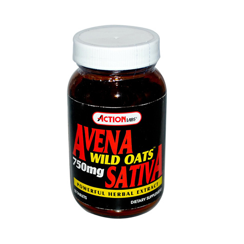 Action Labs Avena Sativa Wild Oats - 750 mg - 50 Tablets