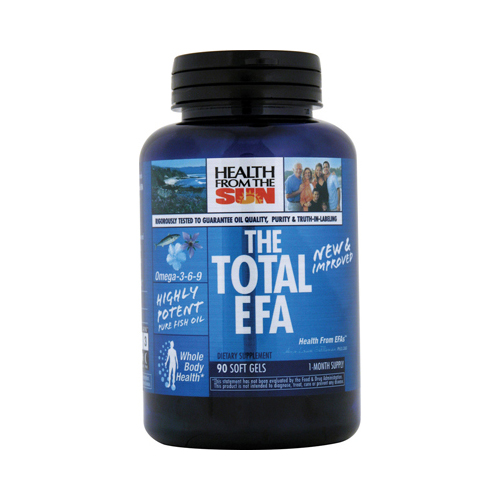 Health From the Sun The Total EFA Fish Oil - 1200 mg - 90 Softgels