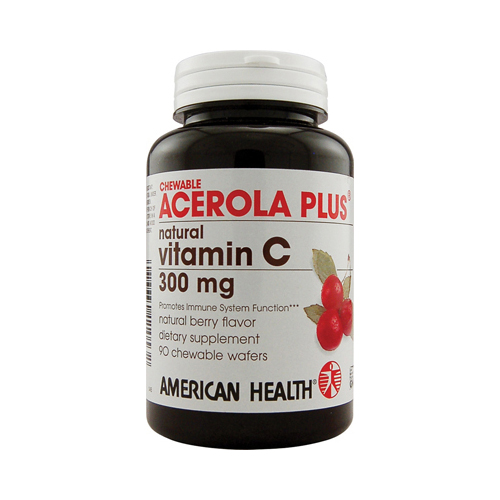 American Health Acerola Plus Natural Vitamin C Chewable Berry - 300 mg - 90 Chewable Wafers