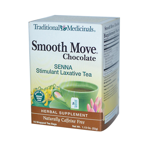 Traditional Medicinals Chocolate Smooth Move Herbal Tea - 16 Tea Bags - Case of 6