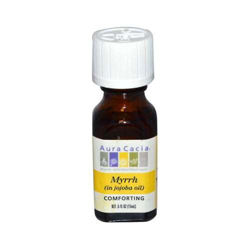 Aura Cacia Myrrh in Jojoba Oil - 0.5 fl oz