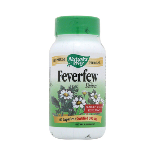 Nature's Way Feverfew Leaves - 100 Capsules