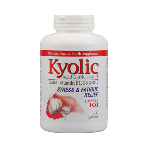 Kyolic Aged Garlic Extract Stress and Fatigue Relief Formula 101 - 300 Capsules