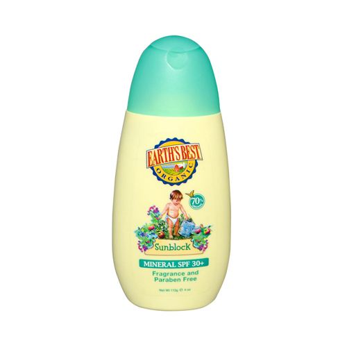 Earth's Best Baby Care Sunblock SPF 30 Creme Anti-Solaire - 4 fl oz