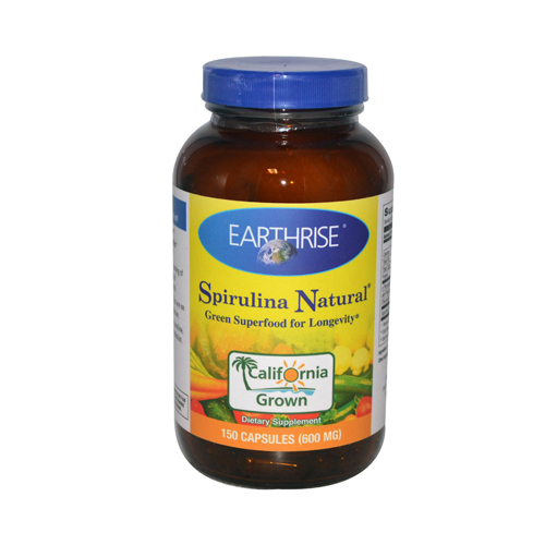 Earthrise Spirulina Natural - 600 mg - 150 Capsules