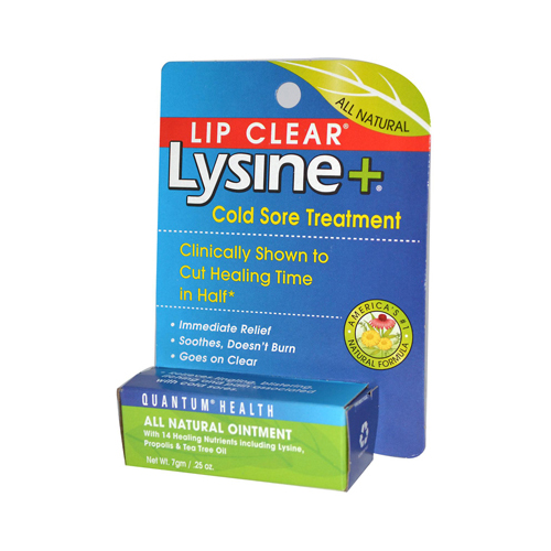 Quantum Lipclear Lysine and Cold Sore Treatment All Natural Ointment - 0.25 oz