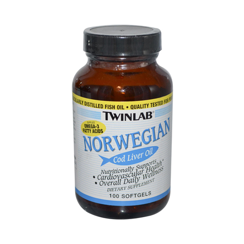 Twinlab Norwegian Cod Liver Oil - 100 Softgels