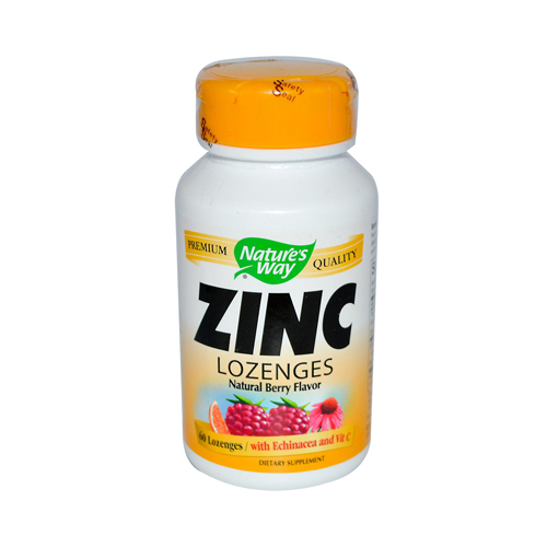Nature's Way Zinc Lozenges Natural Berry - 60 Capsules
