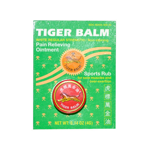 Tiger Balm Pain Relieving Ointment - White Regular Strength - .14 oz