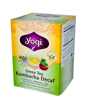 Yogi Tea Green Tea Kombucha - Decaf - 16 Tea Bags