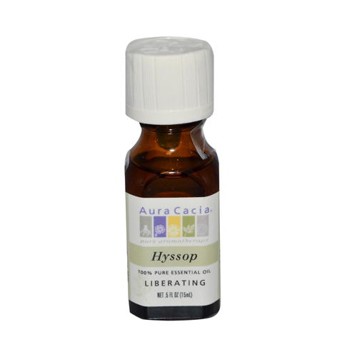 Aura Cacia 100% Pure Essential Oil Hyssop Liberating - .5 oz