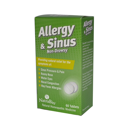 NatraBio Allergy and Sinus Non-Drowsy - 60 Tablets