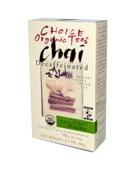 Choice Organic Teas Chai - Decaffeinated - 2.1 oz