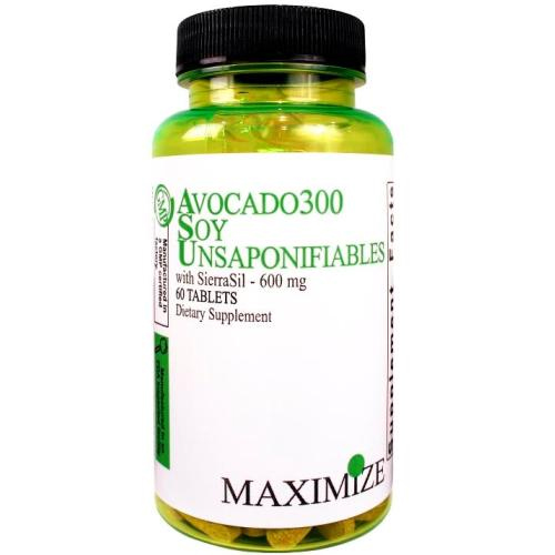 Maximum International Avocado 300 Soy Unsaponifiables with SierraSil - 600 mg - 60 Tablets