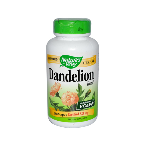 Nature's Way Dandelion Root - 180 Vegetarian Capsules