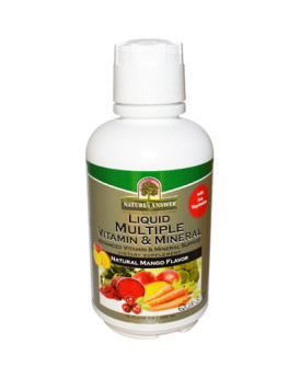 Nature's Answer Liquid Multiple Vitamin and Mineral - Natural Mango Flavor - 16 fl oz