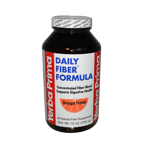 Yerba Prima Daily Fiber Formula Orange - 16 oz