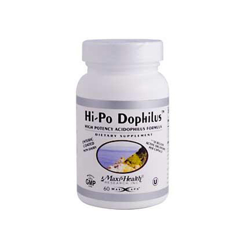 Max Health Hi-Po Dophilus High Potency Acidophilus Formula - 60 Caps