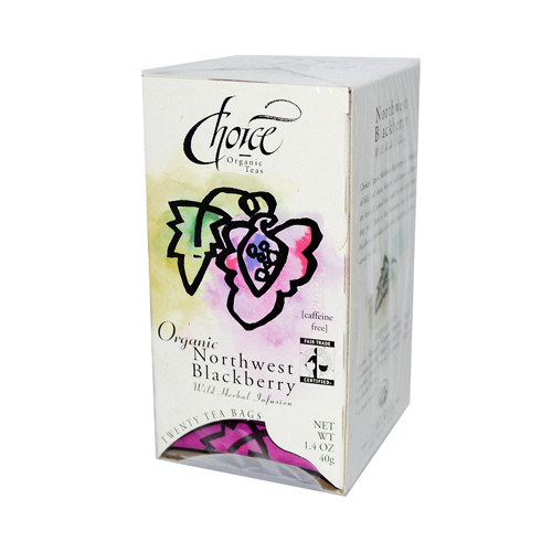 Choice Organic Teas Northwest Blackberry Tea - Caffeine Free - Case of 6 - 20 Bags