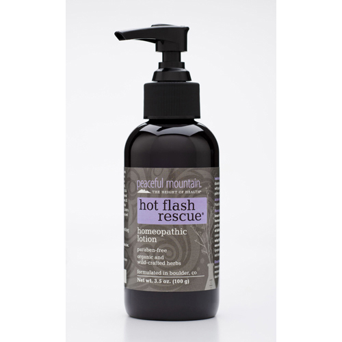 Peaceful Mountain Hot Flash Rescue Homeopathic Lotion - 4 fl oz